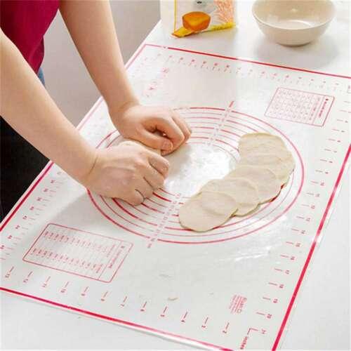Nonstick Food Grade Slicone Knead Dough Rolling Mat Dual Measurement Baking Pad