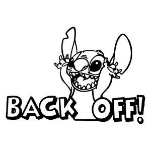 Lilo And Stitch Back Off Car Decal Window Sticker Disney
