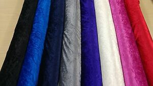 GLITZ UPHOLSTERY CRUSHED VELVET FABRIC CRAFTS WIDE CURTAINS MATERIAL 14 COLOURS