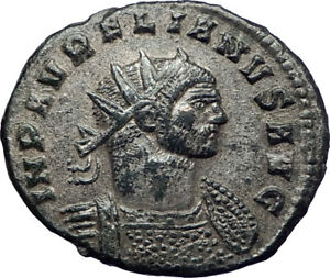 AURELIAN-272AD-Authentic-Silvered-Ancient-Roman-Coin-JUPITER-w-globe-i73392