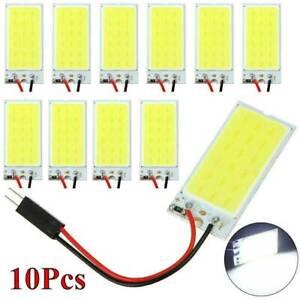 10x-12V-White-COB-Led-Panel-Dome-Light-Interior-Lamp-T10-Festoon-Adapters-kit-UK