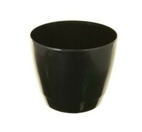 INDOOR plant pot Copertura rotonda 18 cm Decorativa Nero