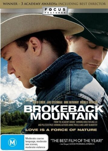 1 of 1 - Brokeback Mountain - DVD LIKE NEW FREE POSTAGE AUSTRALIA REGION 4