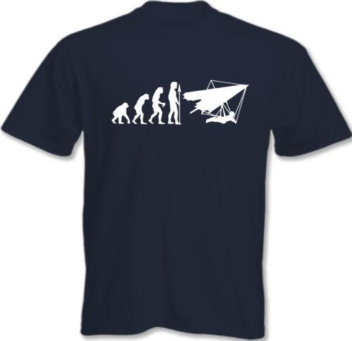 Evolution der Hängen Gleiten Herren Lustiges T-Shirt Hang Glider