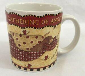 Vintage-1997-Debbie-Mumm-Sakura-Gathering-of-Angels-Mug-Coffee-Tea-Cocoa