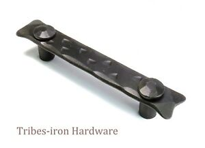 Wrought iron Cabinet Pull Handle 96mm Kitchen Door Chest Drawer Rustic Cupboard