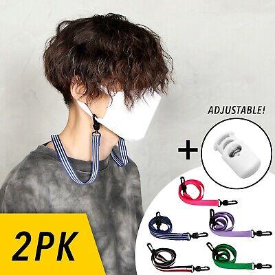 20 Pack Mask Lanyard Kiislee Adjustable Face Mask Chain Extender Ropes Soft Strap Holder Neck Hanger Retainer Necklace Facemask Ear Protector Savers for Women Men Children