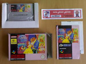 Game-BEAUTY-AND-THE-BEAST-DIE-SCHONE-UND-DAS-BIEST-Super-Nintendo-SNES-PAL
