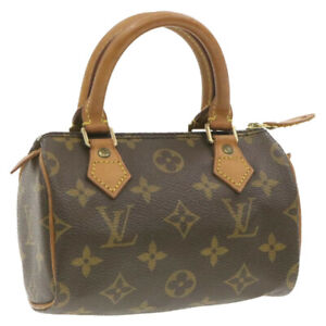 LOUIS-VUITTON-Monogram-Mini-Speedy-Hand-Bag-M41534-LV-Auth-gt332