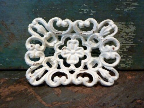 Cast Iron Four Leaf Clover Soap Card Dish Sponge Holder Home Kitchen Bath Decor