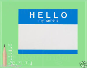 25 250 labels hello my name is name tag id badge stickers peel