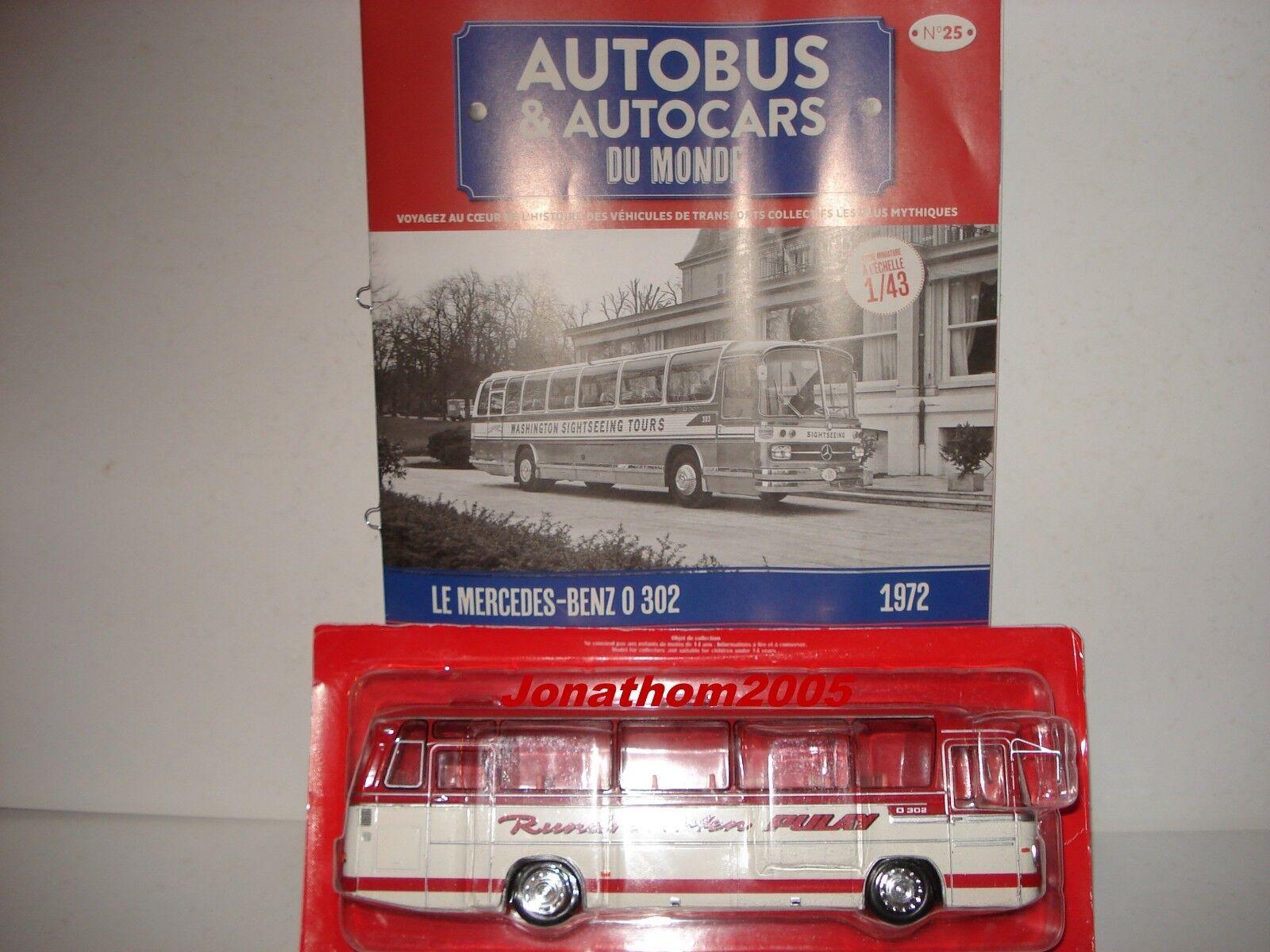 AUTOBUS & AUTOCARS DU MONDE - MERCEDES BENZ O 302  - ALLEMAGNE 1972  au  1 43°