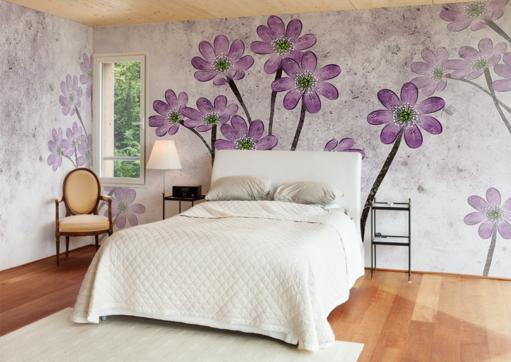 3D lila Petal Painted 36 Paper Wall Print Wall Decal Wall Deco Indoor Murals