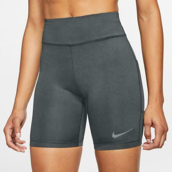 """New Women's Nike 7"""" Fast Shorts, Color Gray, Size M, Cj2373 068"""