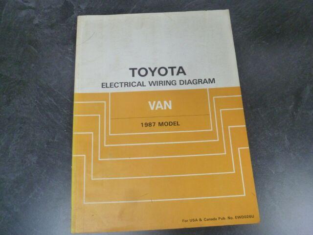 1987 Toyota Van Electrical Wiring Diagrams Manual Deluxe