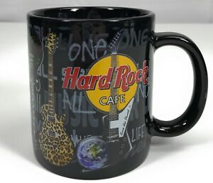 Hard-Rock-Cafe-Chicago-Guitars-Music-Oversized-Souvenir-Black-Tea-Coffee-Mug-Cup