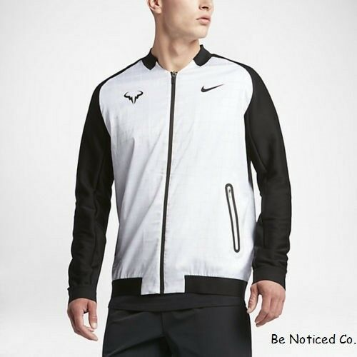 Nike Nikecourt Rafael Nadal Men S Tennis Jacket Xl White Black Gym Casual For Sale Online Ebay