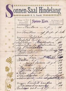 X Qualified Historische Speisekarte Sonnen-saal Bad Hindelang F Neuchl Handschrift An Indispensable Sovereign Remedy For Home