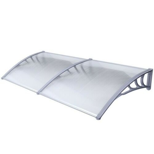 ALEKO Polycarbonate Outdoor Window Door Canopy Awning Cover 40 x 80 In Gray