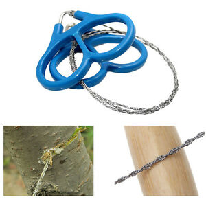 Best Steel Wire Saw Outdoor Scrolls Travel Camping Hiking Hunting Survival TooZN