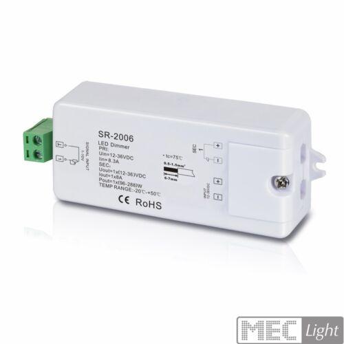 1x 8a 12v-36v sr-2006 1 canali dimmer LED per dimmer 1-10v MAX