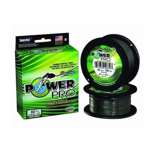 150,300,500yd, Moss, Hi-Vis, Red Power Pro Braided Line Original PowerPro