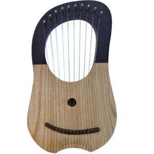 Brand New Lyre Harpe Palissandre Bois 10 Métal Cordes Gratuit étui + Clé-afficher Le Titre D'origine RafraîChissant Et Enrichissant La Salive