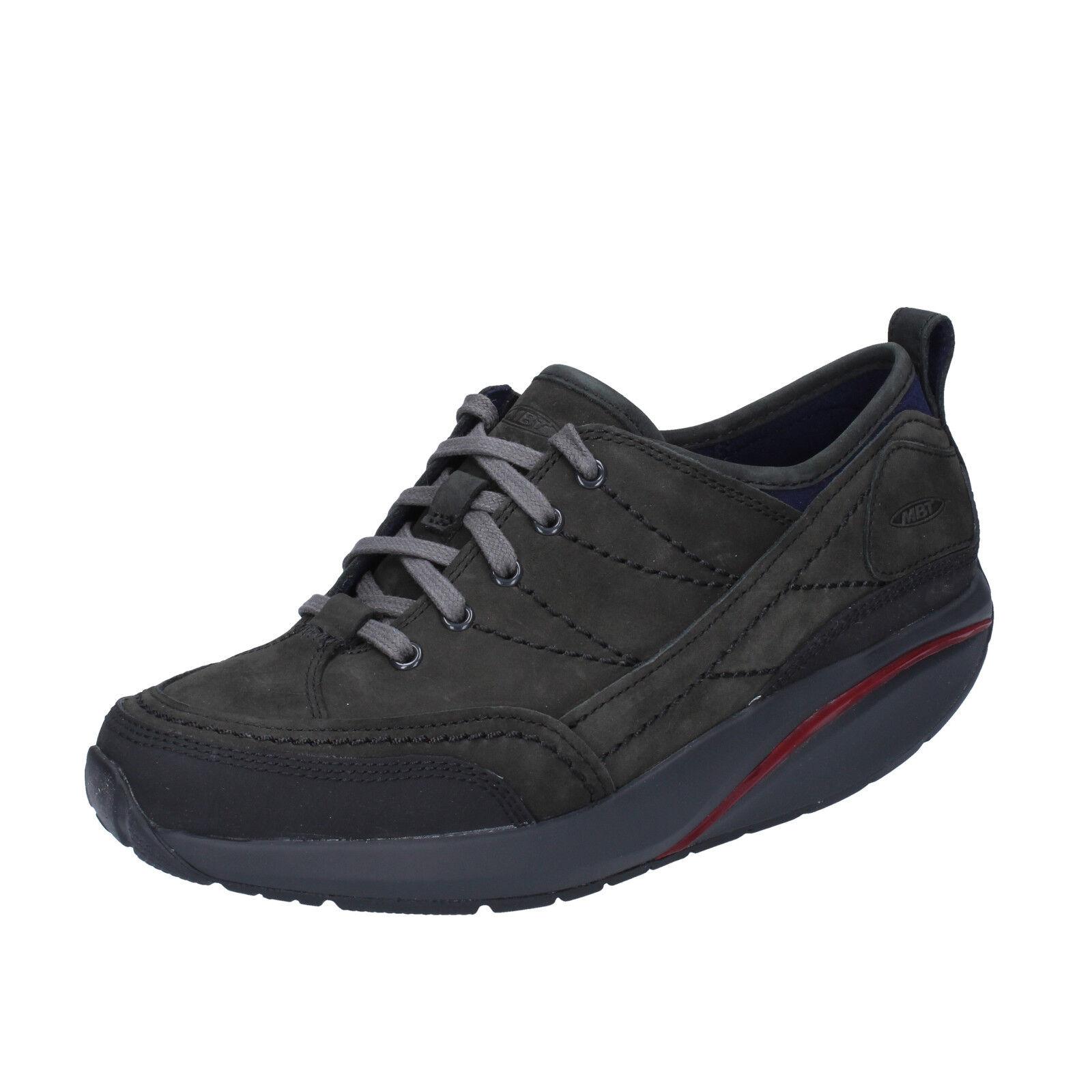 femmes   chaussures  MBT 5 / 5,5 (EU 36) sneakers  noir  leather performance BT96-36