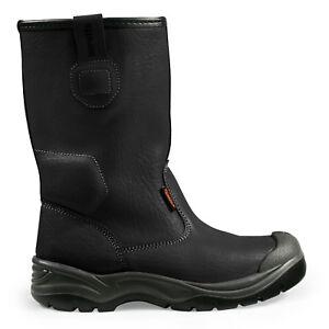per acciaio Rigger di in 12 nero Misure puntali Boots Scruffs Gravity sicurezza 7 YxpqSS