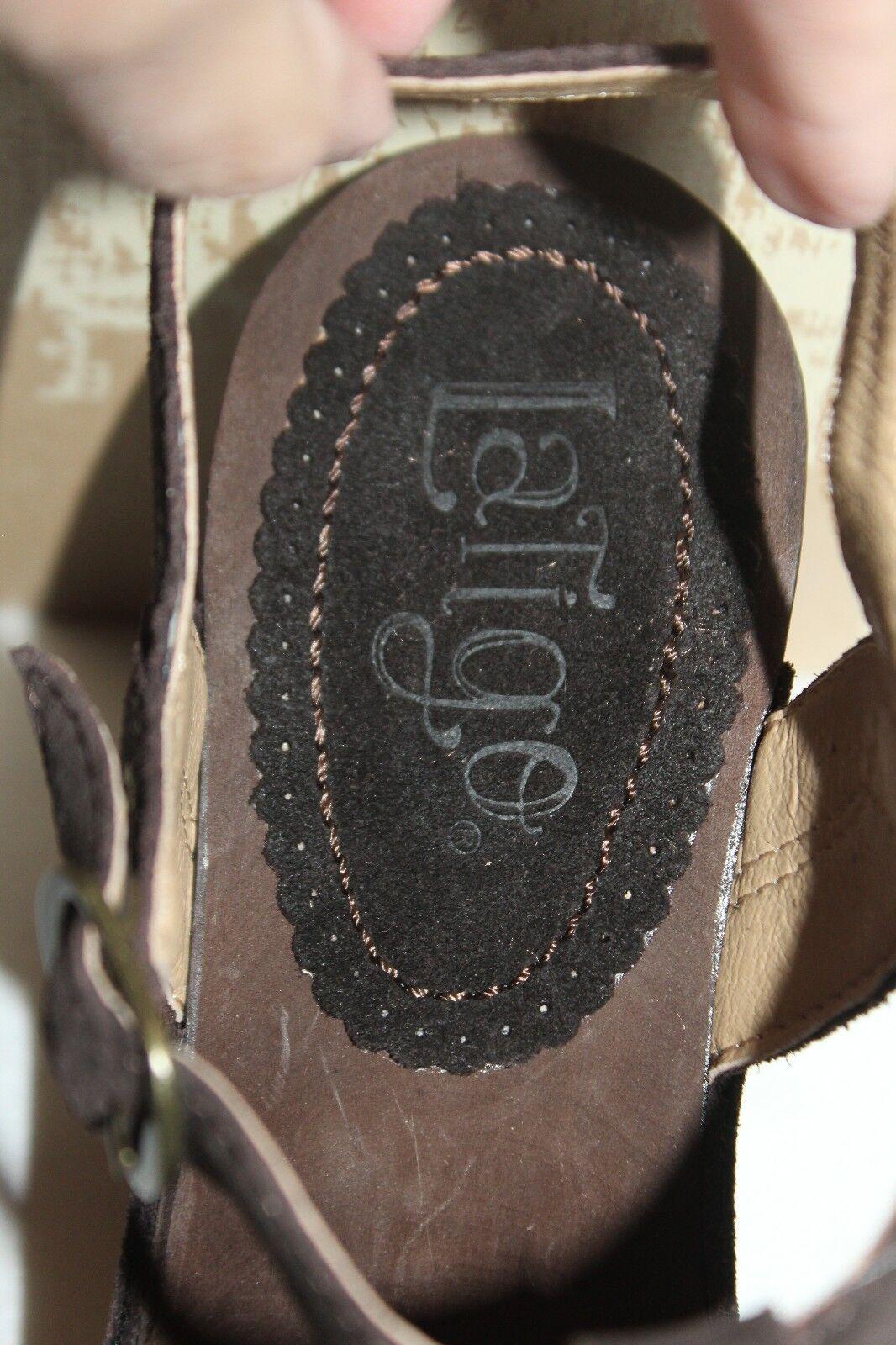 NEU  NIB  Anthropologie LATIGO Chocolate Braun Suede CAJUN Heeled Clog 9 10 258