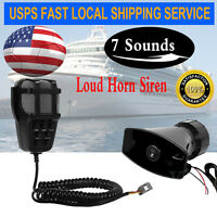 Us Zone Tech 100w 7 Tone Sound Car Police Siren Horn With Mic Pa Speaker System