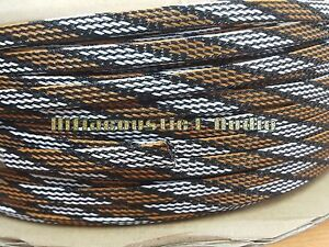 3Meter HIFI Audio Wire Cable Sleeving Braided 8mm Expandable Sleeve ...
