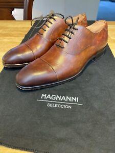 Magnanni-Bolo-Cognac-Lace-Up-Cap-Toe-size-7-US-21521-6-2186-Dress-Shoe