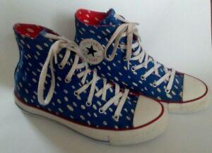 Rare MARIMEKKO CONVERSE ALL STAR HI TOPS UK Ladies Size 5 Blue Skate ... cb74d4241