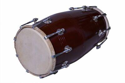 Black Mango Wood Bolt-tuned Spanner Padded Bag Dholak Drum Instrument Dholki