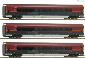 Roco-H0-64192-Car-Set-034-Railjet-034-the-OBB-034-with-LED-Lighting-034-New-Boxed