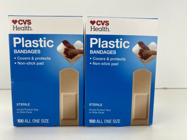 Cvs Health Plastic Bandages 100 All One Size For Sale Online Ebay