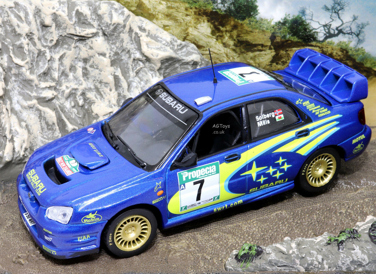 Rally Car Collector Subaru Impreza WRC New Zealand Rally 2003 Solberg 1 43 Model