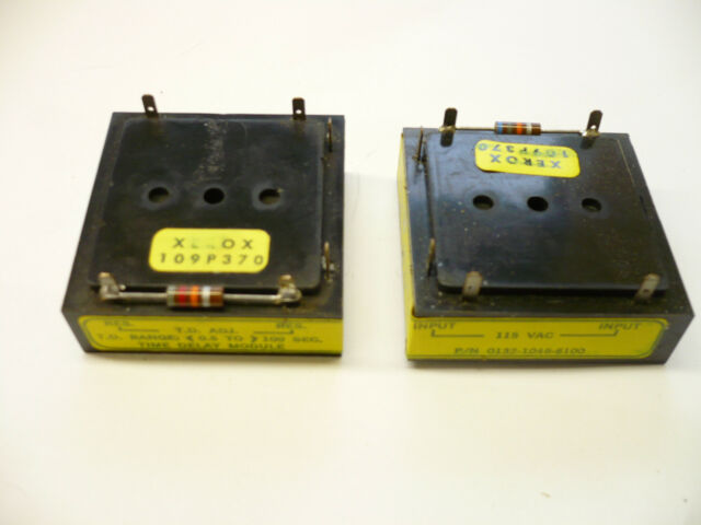 RANGE 0.5 TO 100 SECONDS 2 PCS 109P370 XEROX TIME DELAY MODULE 115 VAC  T.D