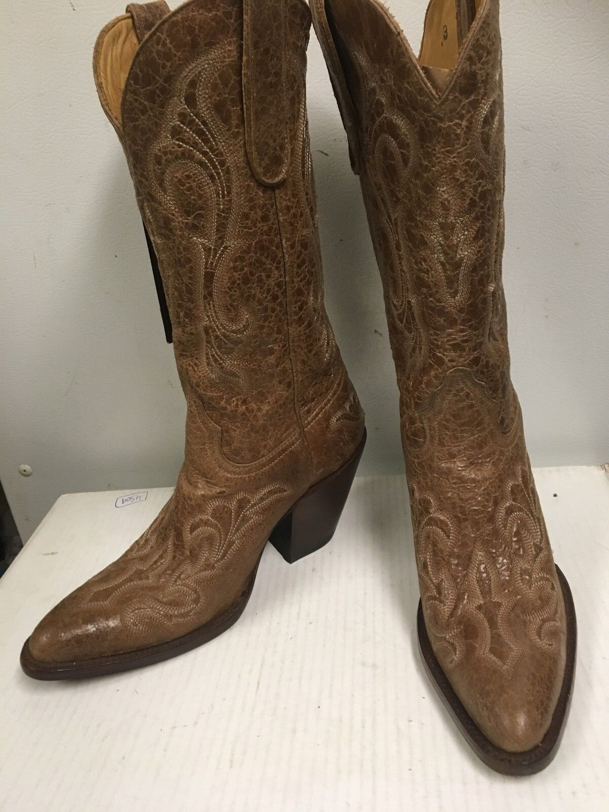 Star Women's Western  Leather  Boots 6002 Light Brown Oryx Rocco Size 7 B NEW