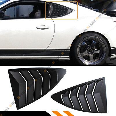 Qiilu Window Louver Cover,1 Pair Side Window Louver Vent Cover Fit for Toyota 86//GT86//Scion FR-S Subaru BRZ 2013-2018 Carbon Fiber