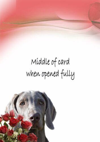 PERSONALISED WEIMARANER DOG BIRTHDAY FATHERS DAY ANNIVERSARY etc CARD Insert