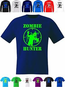 0923ed8bcc624 Kids T Shirt Gamer Zombie Hunter Target Short and Long Sleeve Dead ...