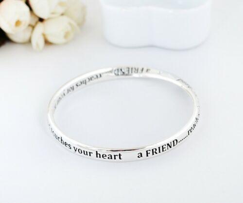 925 Sterling Silver Filled Infinity Friendship Bracelet Bangle Good Quality Gift