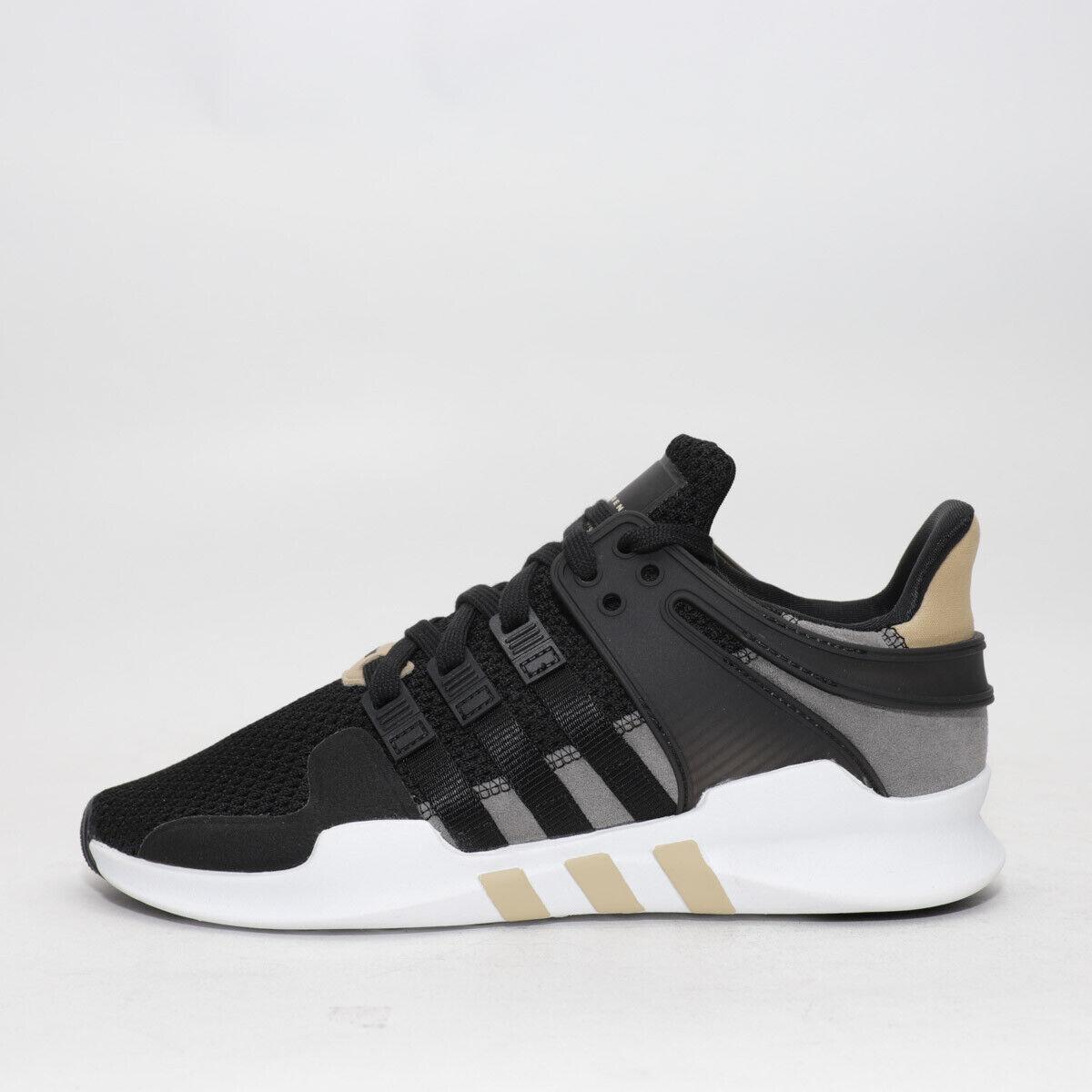 Para Hombre Adidas EQT Support ADV Negro blancooo Dorado Trainers (TGF26) RRP