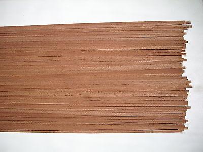 50 Barre Di Legno Mogano 800 X 4 X 0,6 Mm-mostra Il Titolo Originale