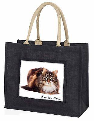 schön Katze' Liebe, die sie Mama' große schwarze Einkaufstasche WEIHNACHTEN vor,