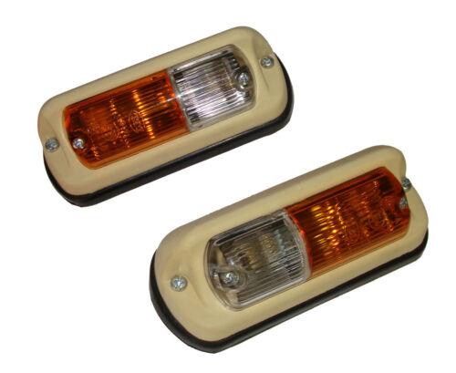 2 Blinker Positonsleuchten für Eicher Traktor Schlepper Spiegel o Lichtscheibe