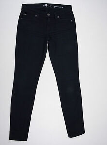 7-For-All-Mankind-Jeans-039-GWENEVERE-039-Black-W24-L30-AU6-US2-UK4-EUC-Women-or-Girls