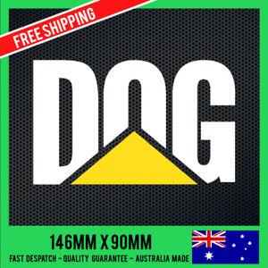 DOG-Version-CAT-STICKER-DECAL-CATERPILLAR-STICKER-Car-Ute-Truck-4x4-Funny
